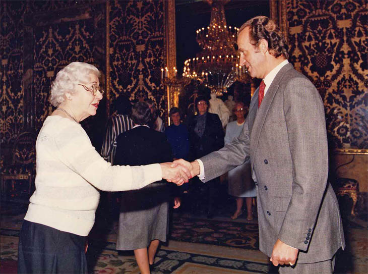 Esther DeMerritt with Juan Carlos