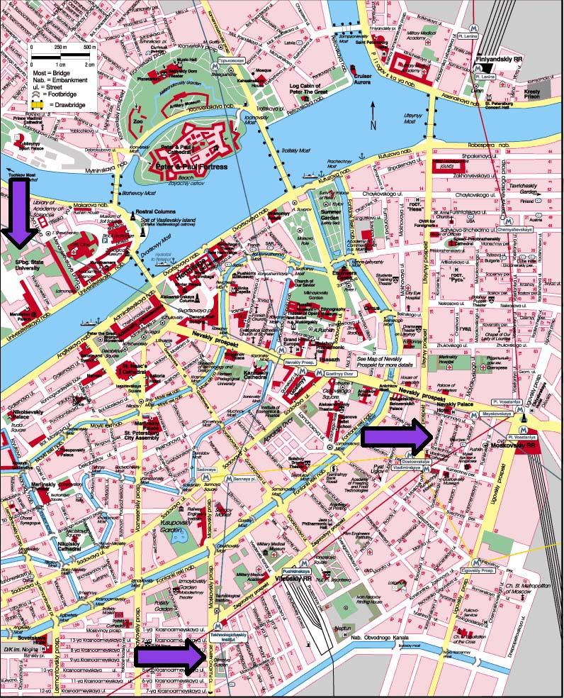 St Petersburg Russian Subway Map.Ayn Rand Sites In Saint Petersburg
