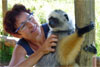 Catherine and lemur